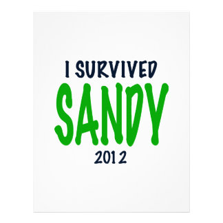 I SURVIVED SANDY 2012, green,Hurricane Sandy gifts Letterhead