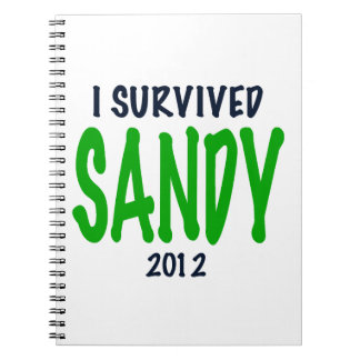 I SURVIVED SANDY 2012, green,Hurricane Sandy gifts Journals