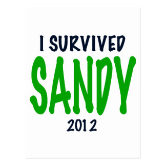I SURVIVED SANDY 2012, green,Hurricane Sandy gifts Postcard