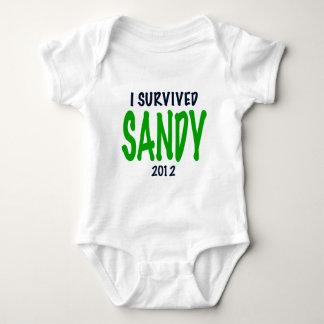 I SURVIVED SANDY 2012, green,Hurricane Sandy gifts T Shirt