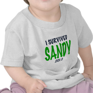 I SURVIVED SANDY 2012, green,Hurricane Sandy gifts T Shirts