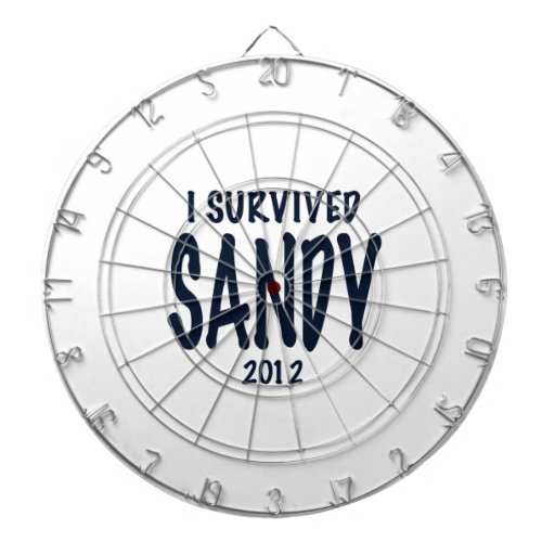 I Survived Sandy 2012, Hurricane Sandy Dartboard With Darts