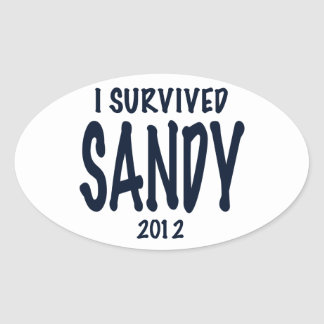 I Survived Sandy 2012, Hurricane Sandy Oval Sticker