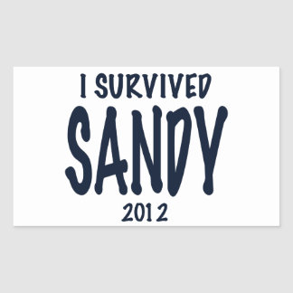 I Survived Sandy 2012, Hurricane Sandy Rectangular Sticker
