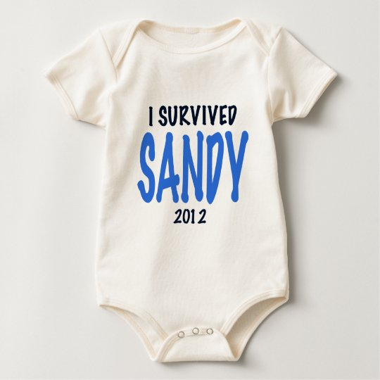 I SURVIVED SANDY 2012,lt. blue, Sandy Survivor gif Baby Bodysuit