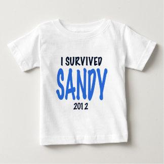 I SURVIVED SANDY 2012,lt. blue, Sandy Survivor gif Baby T-Shirt