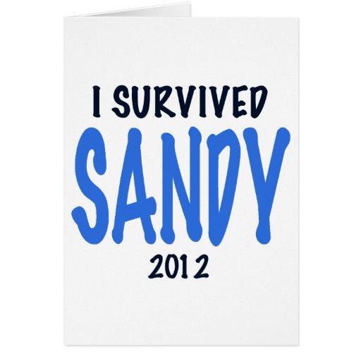I SURVIVED SANDY 2012,lt. blue, Sandy Survivor gif Cards