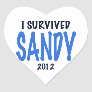 I SURVIVED SANDY 2012,lt. blue, Sandy Survivor gif Heart Sticker
