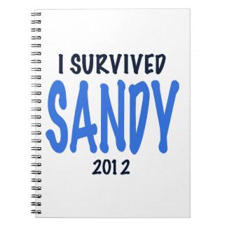 I SURVIVED SANDY 2012,lt. blue, Sandy Survivor gif Spiral Note Books