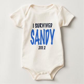 I SURVIVED SANDY 2012,lt. blue, Sandy Survivor gif Bodysuits