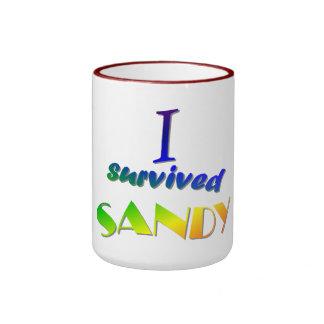 I survived Sandy 2 Ringer Coffee Mug