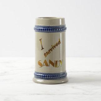 I survived Sandy 3 18 Oz Beer Stein