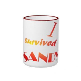 I survived Sandy -6 Ringer Coffee Mug