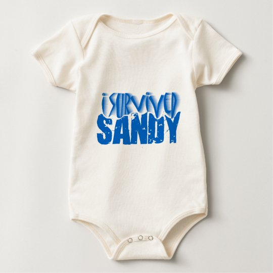 i survived SANDY Baby Bodysuit