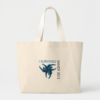 I SURVIVED SANDY TOTE BAGS