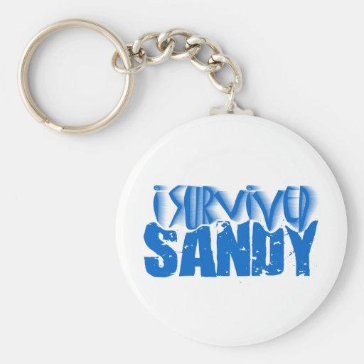 i survived SANDY Basic Round Button Keychain