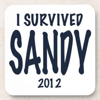 I Survived Sandy Beverage Coaster