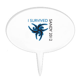 I SURVIVED SANDY CAKE TOPPERS
