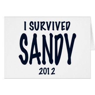 I Survived Sandy Card
