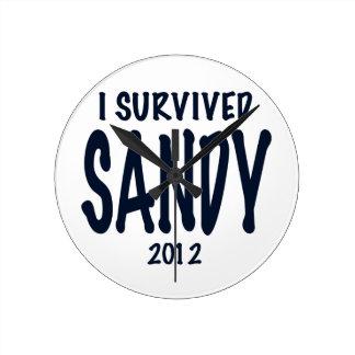 I Survived Sandy Wallclock