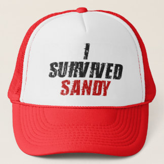 I Survived Sandy - Hurricane Sandy Hat (Red)