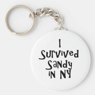 I Survived Sandy in NY.png Basic Round Button Keychain