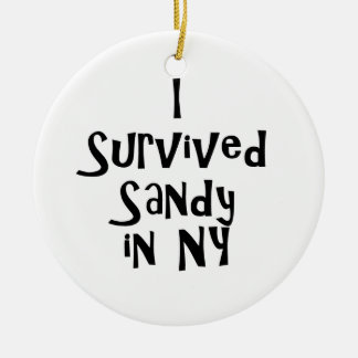 I Survived Sandy in NY.png Double-Sided Ceramic Round Christmas Ornament