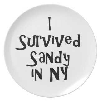 I Survived Sandy in NY.png Party Plate