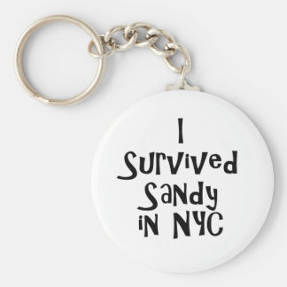 I Survived Sandy in NYC.png Basic Round Button Keychain