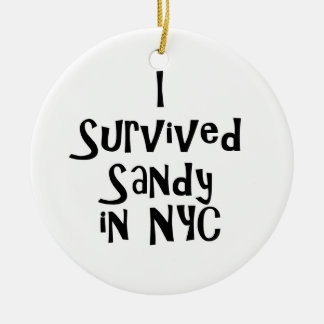 I Survived Sandy in NYC.png Double-Sided Ceramic Round Christmas Ornament