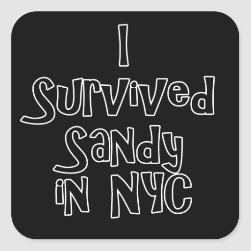 I Survived Sandy in NYC.png Square Sticker