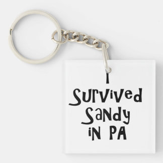 I Survived Sandy in PA.png Single-Sided Square Acrylic Keychain