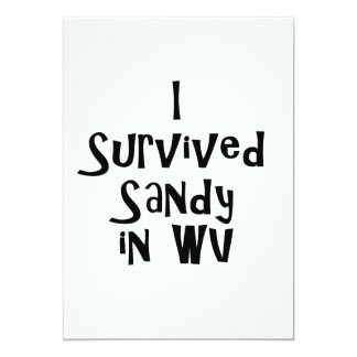 I Survived Sandy in WV.png Personalized Invitation