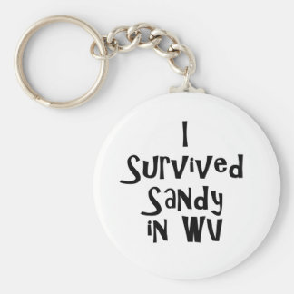 I Survived Sandy in WV.png Basic Round Button Keychain