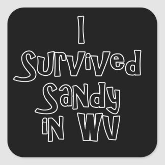 I Survived Sandy in WV.png Square Sticker