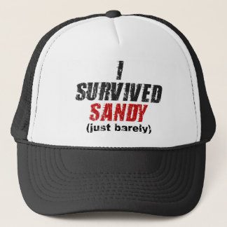 I Survived Sandy (just barely) Distressed Hat
