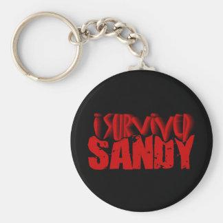 i survived SANDY Keychain