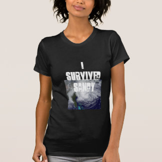 I Survived Sandy Ladies T T-Shirt