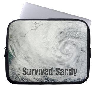 I Survived Sandy Laptop Sleeve