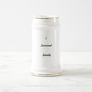 I survived Sandy! 18 Oz Beer Stein