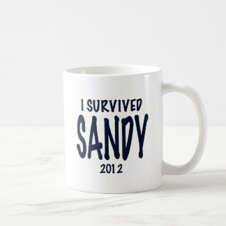 I Survived Sandy Classic White Coffee Mug