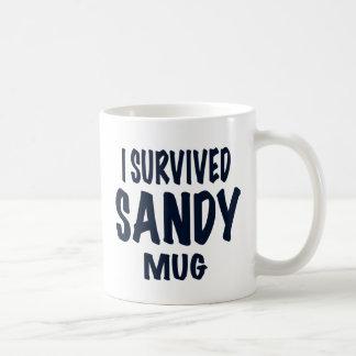 """I SURVIVED SANDY MUG"". Hurricane Sandy gifts Classic White Coffee Mug"