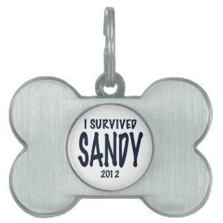 I Survived Sandy Pet Name Tag
