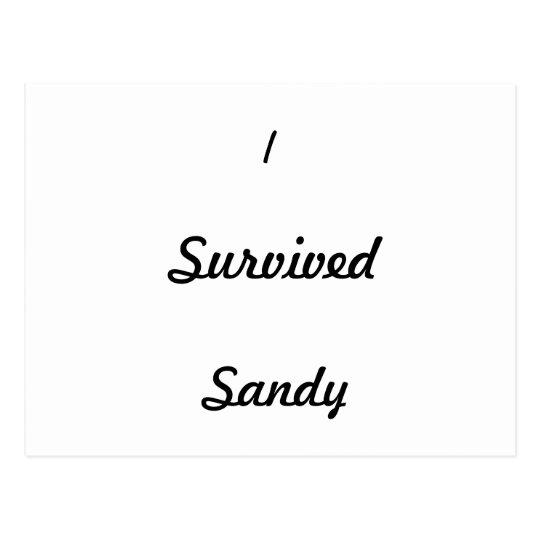 I survived Sandy! Postcard