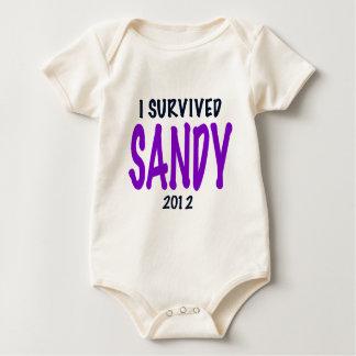I SURVIVED SANDY, Purple, Sandy Survivor gifts Baby Creeper
