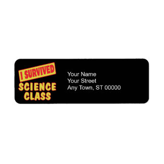 I SURVIVED SCIENCE CLASS LABEL