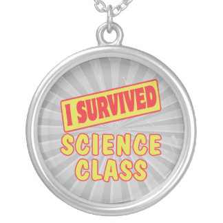 I SURVIVED SCIENCE CLASS ROUND PENDANT NECKLACE