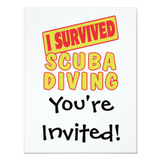 I SURVIVED SCUBA DIVING CARD