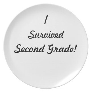 I survived Second Grade! Party Plate