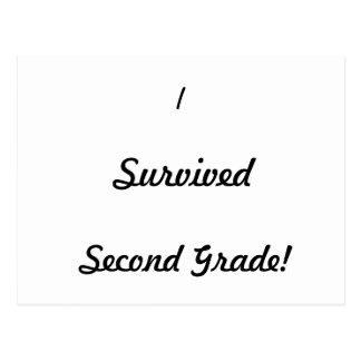 I survived Second Grade! Postcard